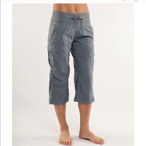 NEW! Lululemon Studio Crop pants in dark grey